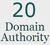 Domain Authority - 20