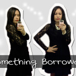Outfit: Something Borrowed Lace Sleeve Dress in Black