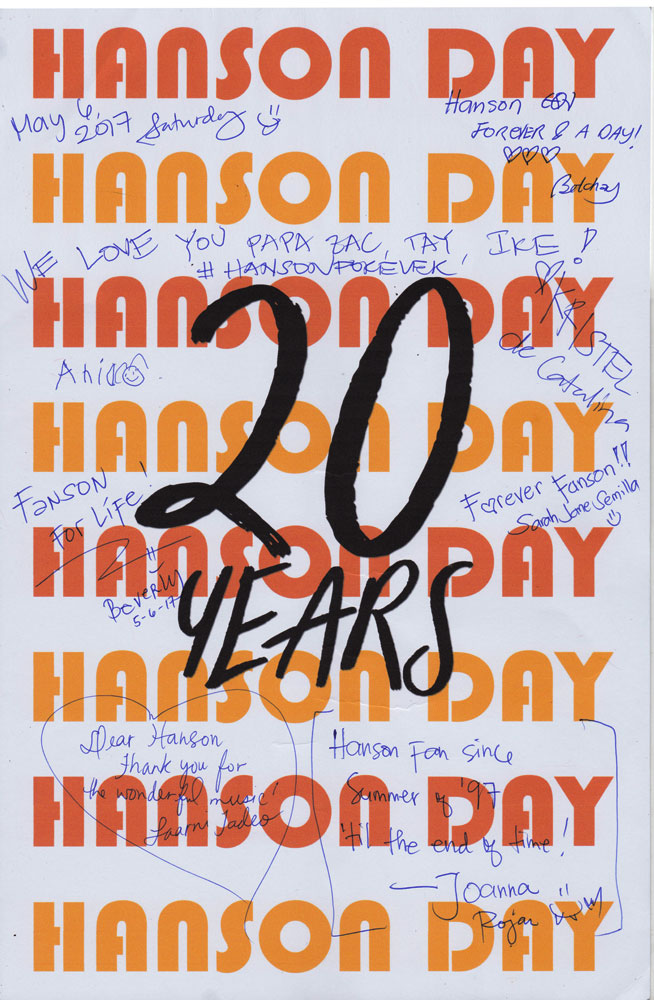 Happy Hanson Day! More years to come!!!